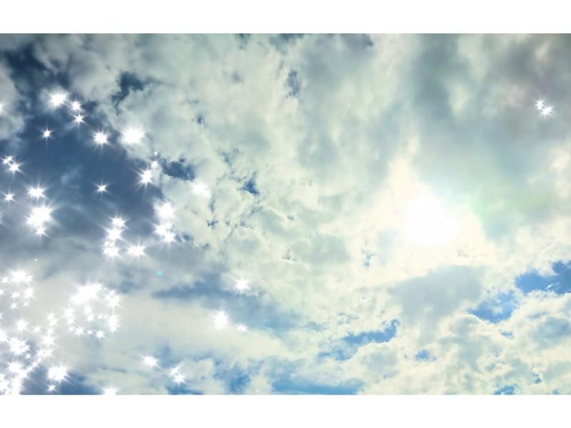 音楽とともに生きていく気持ちが体現されたような青空